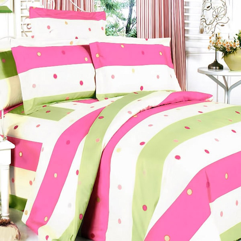 Pink And Green Comforter Sets Queen
