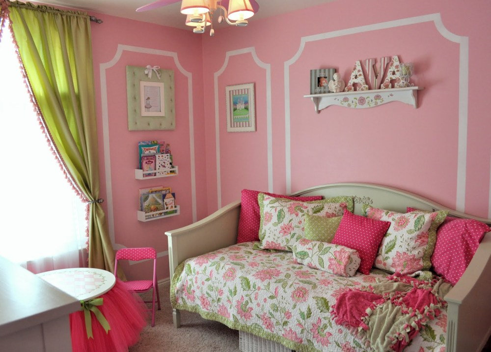 Pink And Green Kids Bedroom