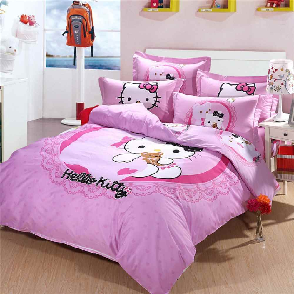 Pink And Grey Kids Bedding