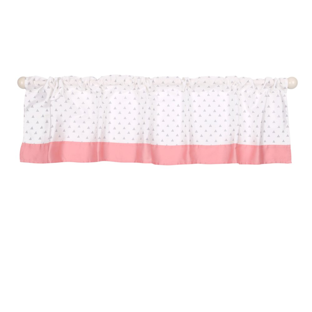 Pink And Grey Window Valance
