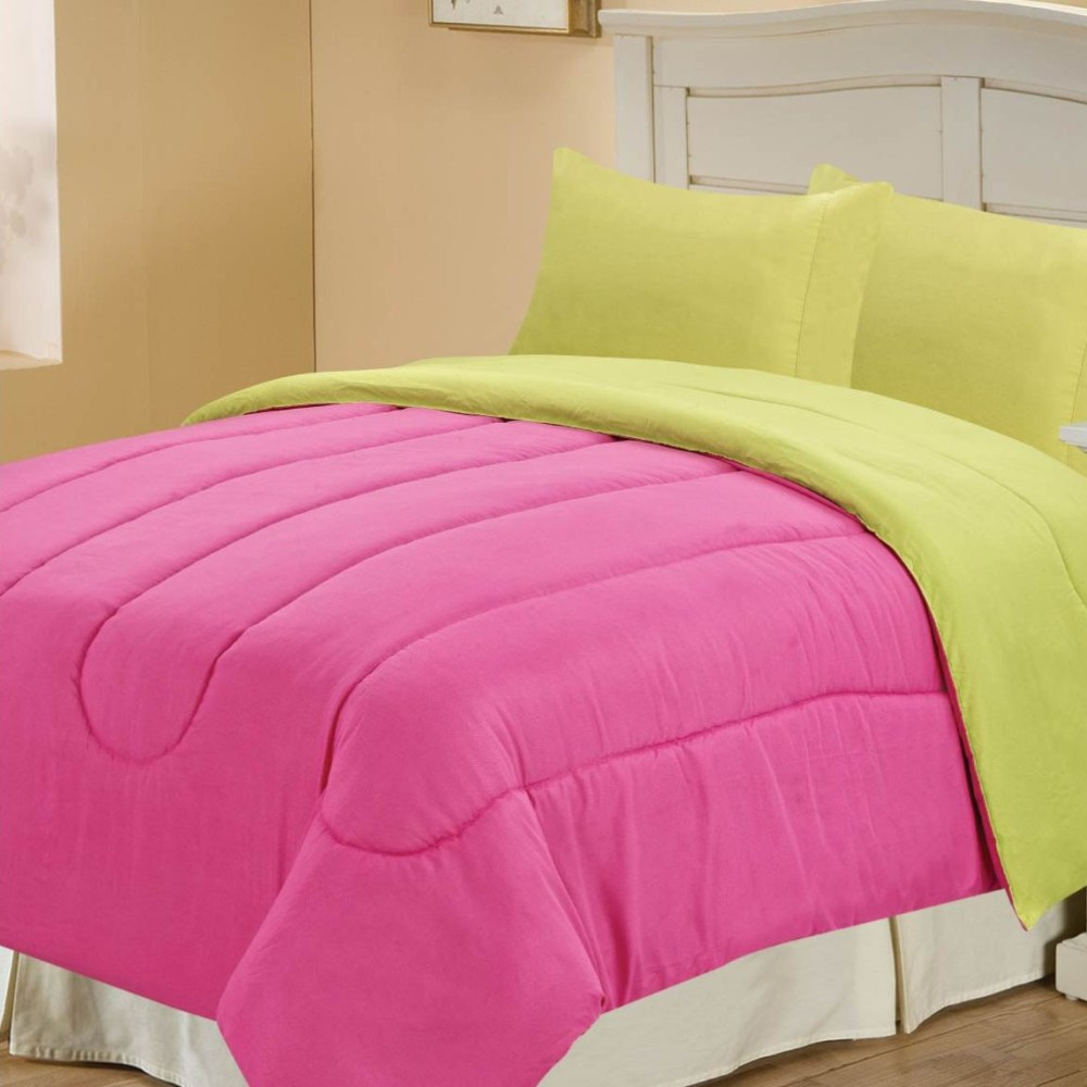 Pink And Lime Green Comforter Sets