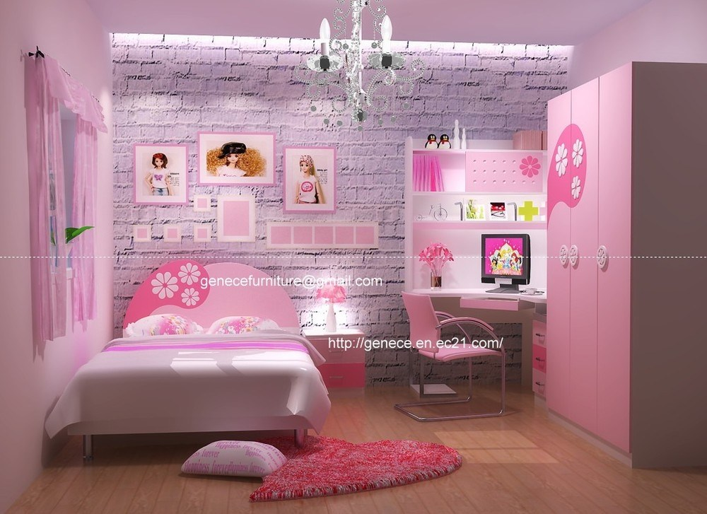 Pink And Purple Kids Bedroom