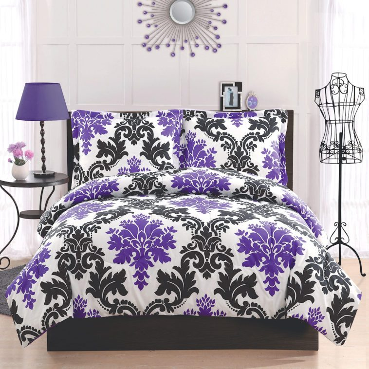 Pink Black And White Comforter Sets
