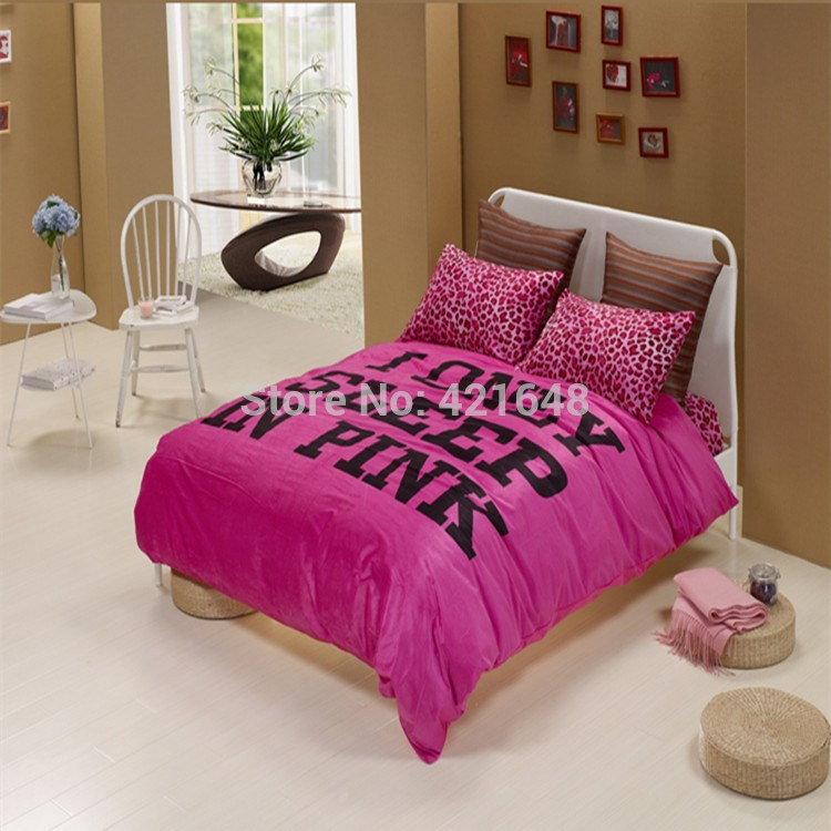Pink Black White Comforter Set