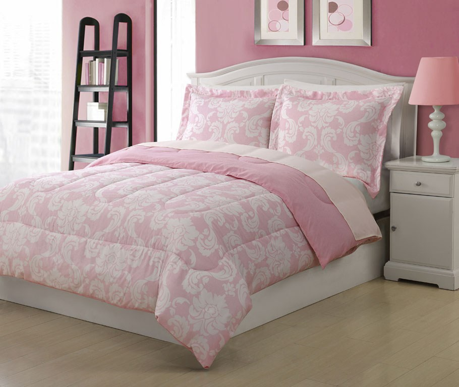 Pink Comforter Sets Twin