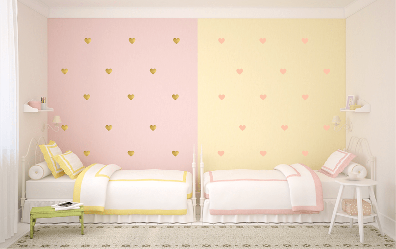 Pink Heart Wall Decals