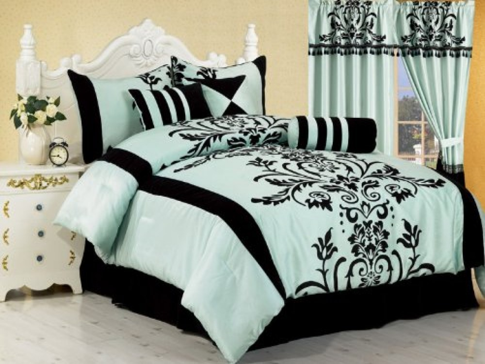 Pink White And Black Comforter Sets
