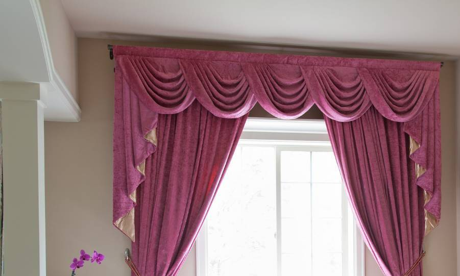 Pink Window Valance