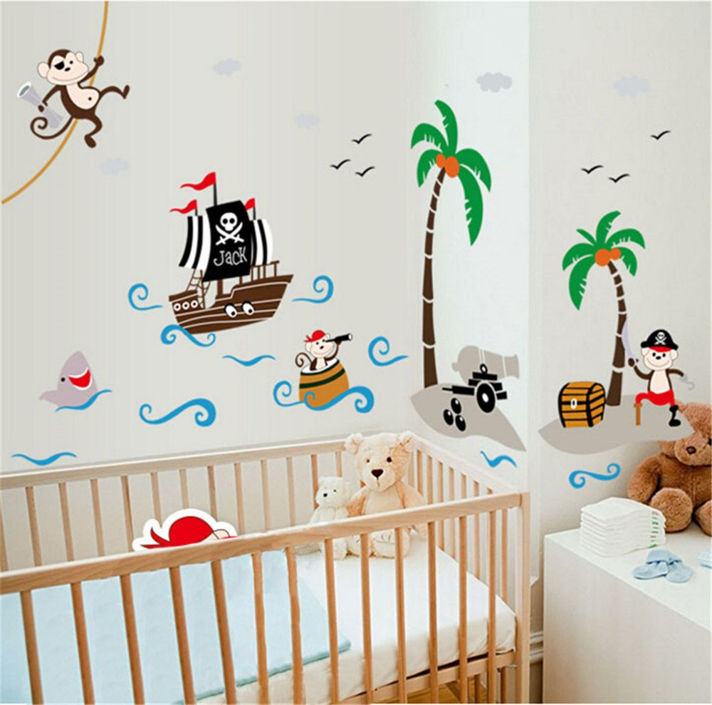 Pirate Monkey Wall Decals