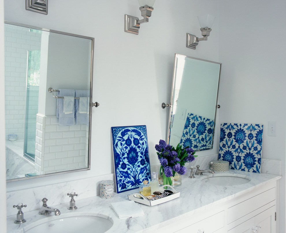Polished Nickel Bathroom Mirrors