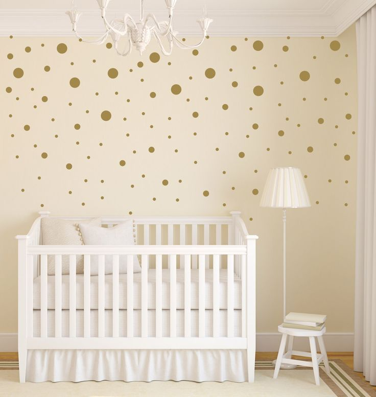Polka Dot Wall Decals Gold