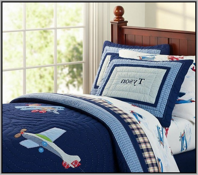 Pottery Barn Kids Airplane Bedding