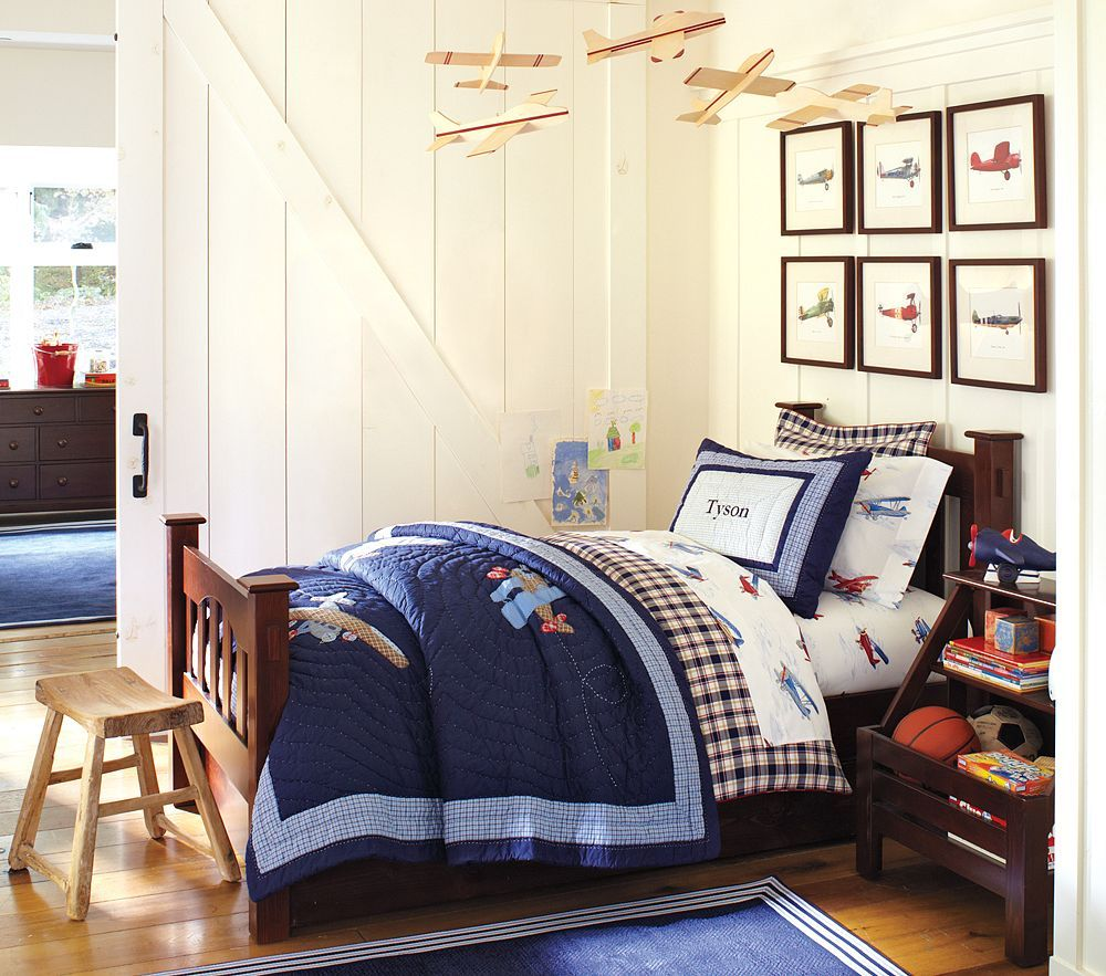 Pottery Barn Kids Train Bedding