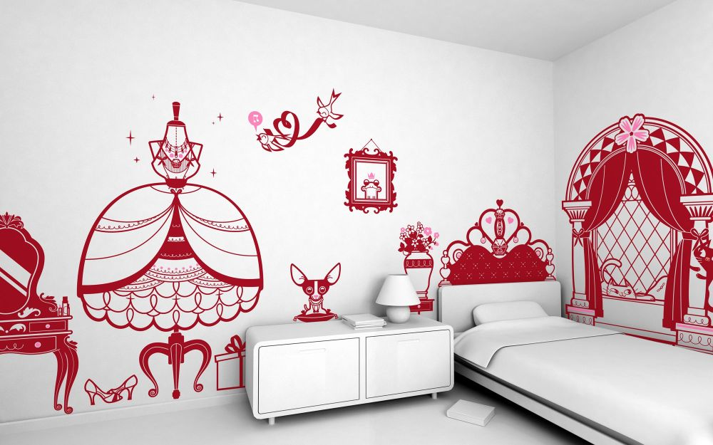 Princess Themed Wall Decals