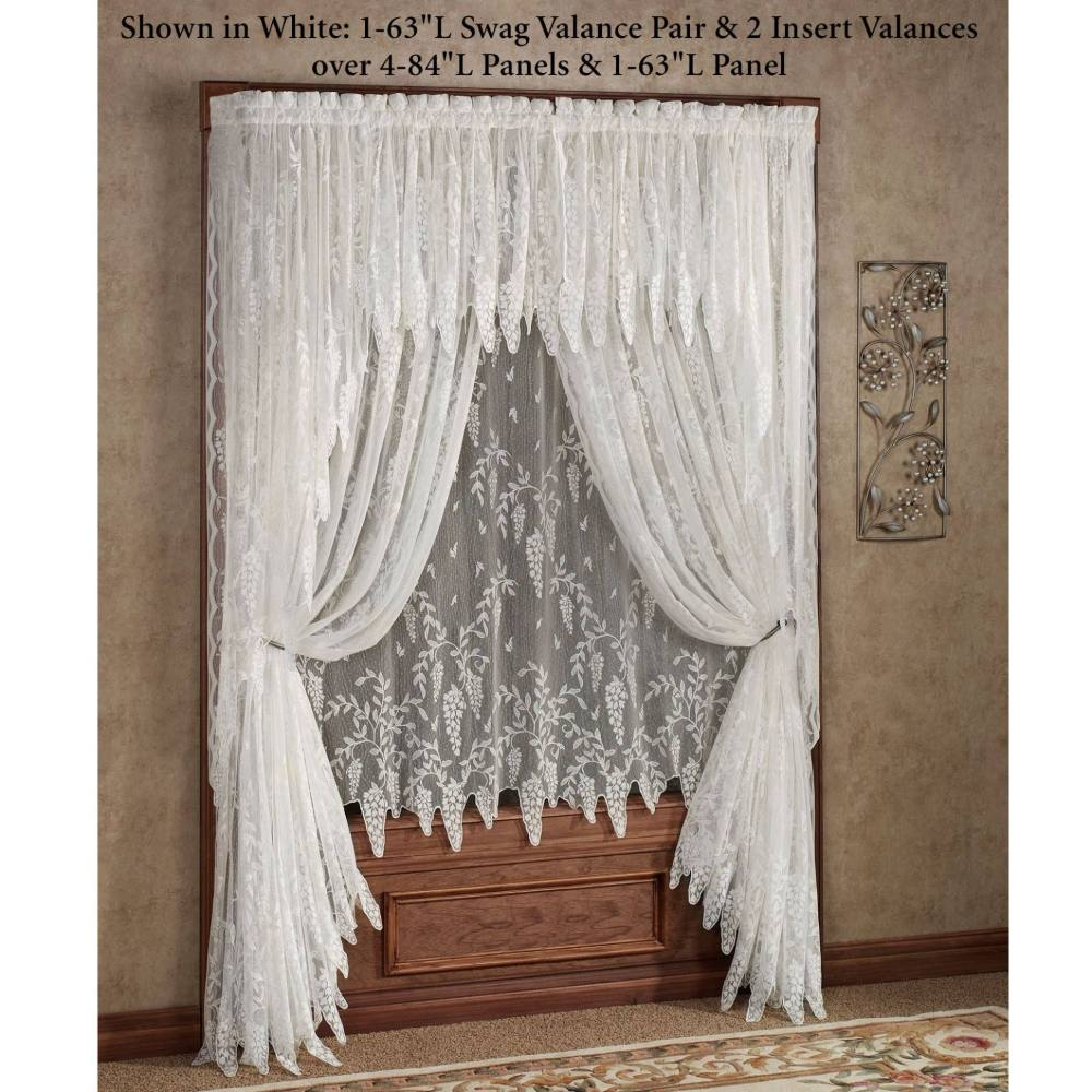 Priscilla Curtains With Attached Valance