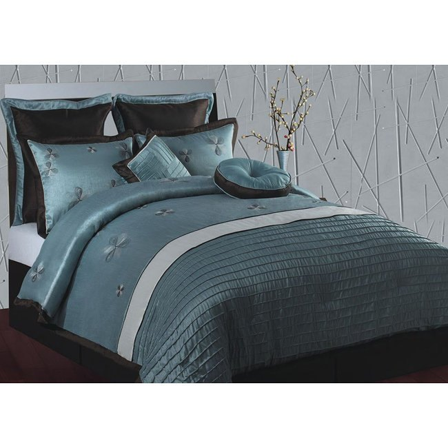 Purple And Aqua Comforter Set