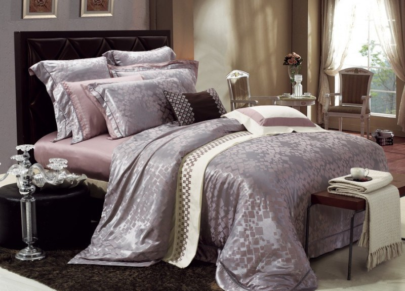 Purple And Grey Comforter Set