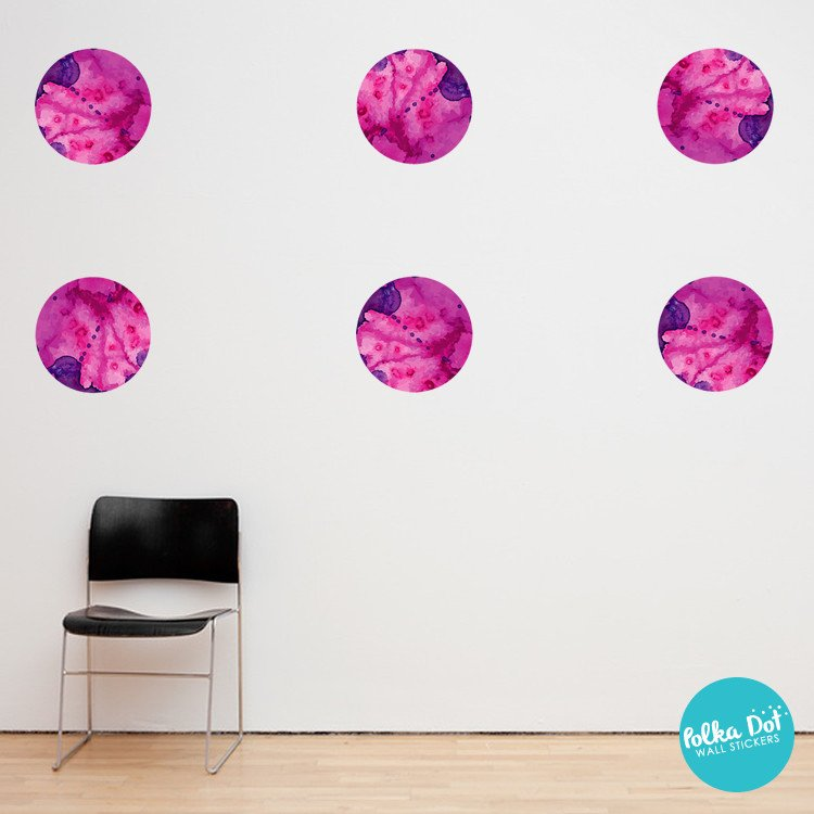 Purple And Pink Wall Decals