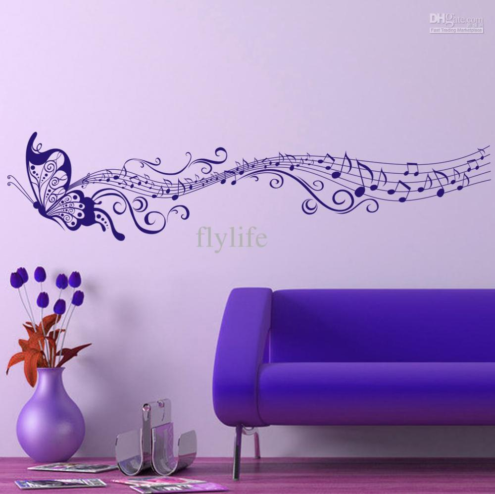 Purple Butterfly Wall Decals