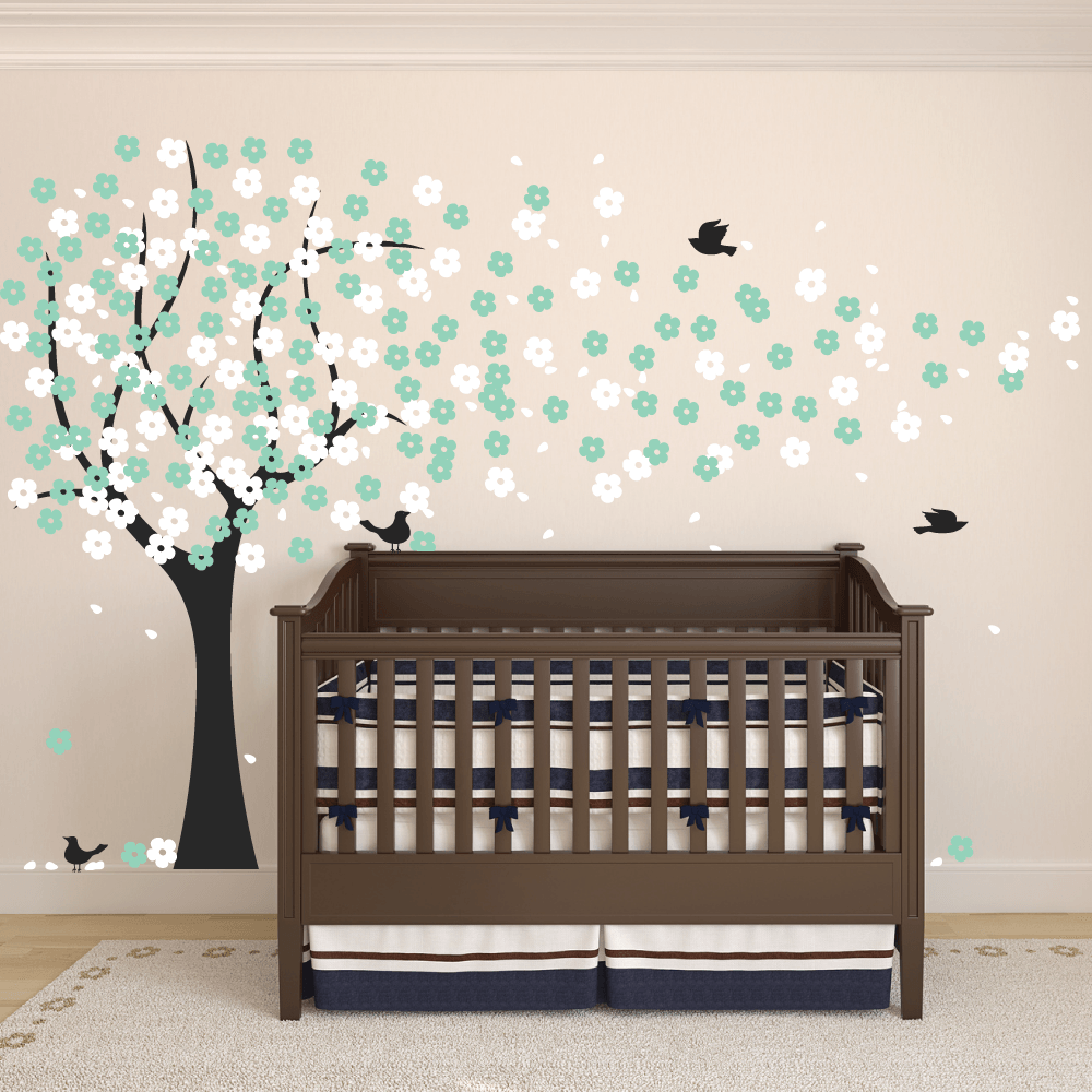Purple Cherry Blossom Wall Decal