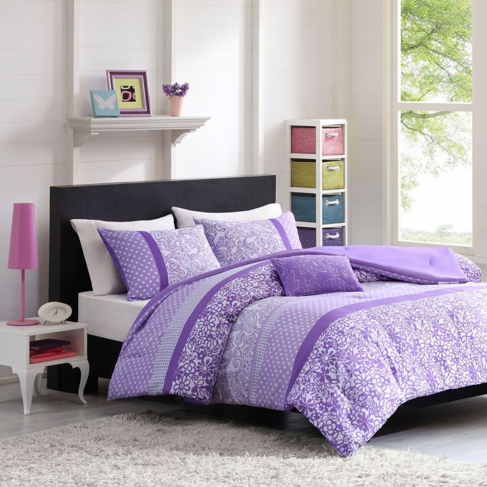 Purple Comforter Set Full Size