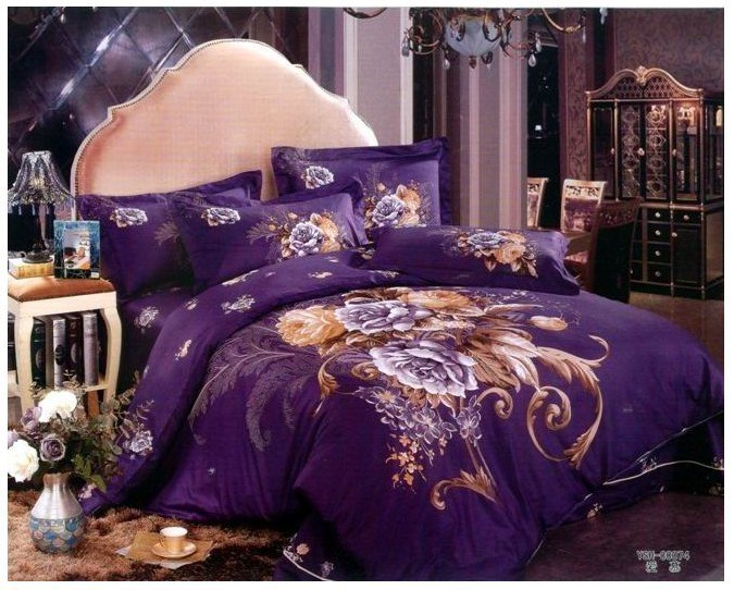 Purple Comforter Set King