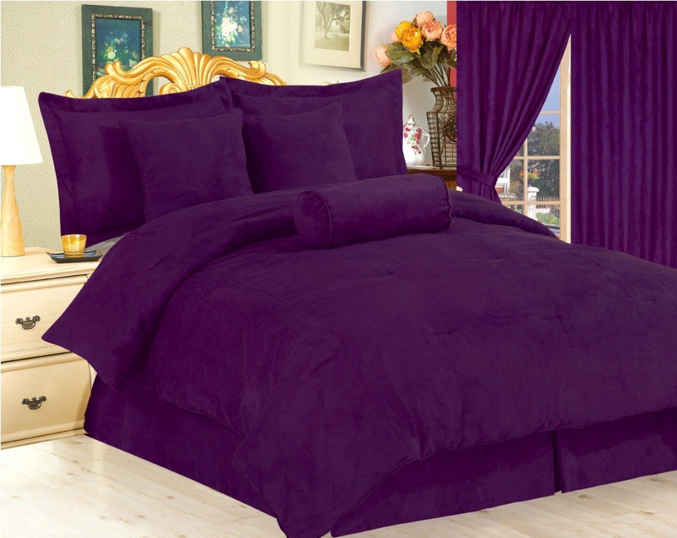 Purple Comforter Sets Queen Size