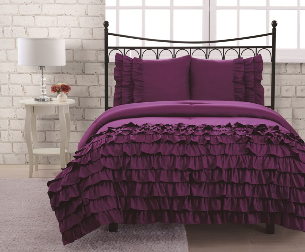 Purple Comforter Sets Twin