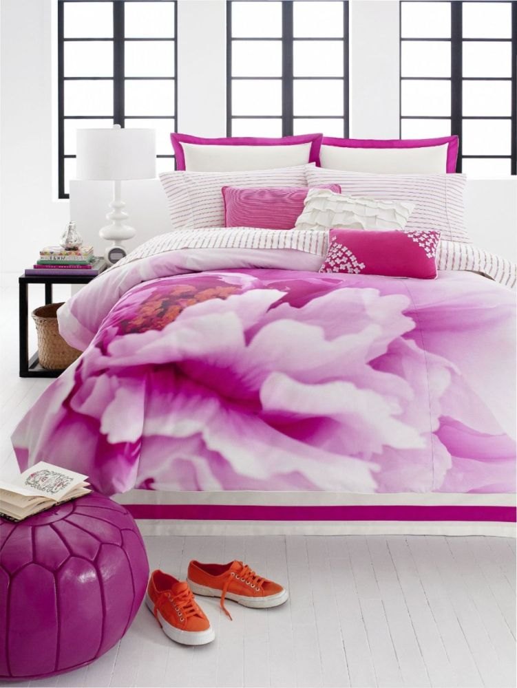 Purple Flower Comforter Set