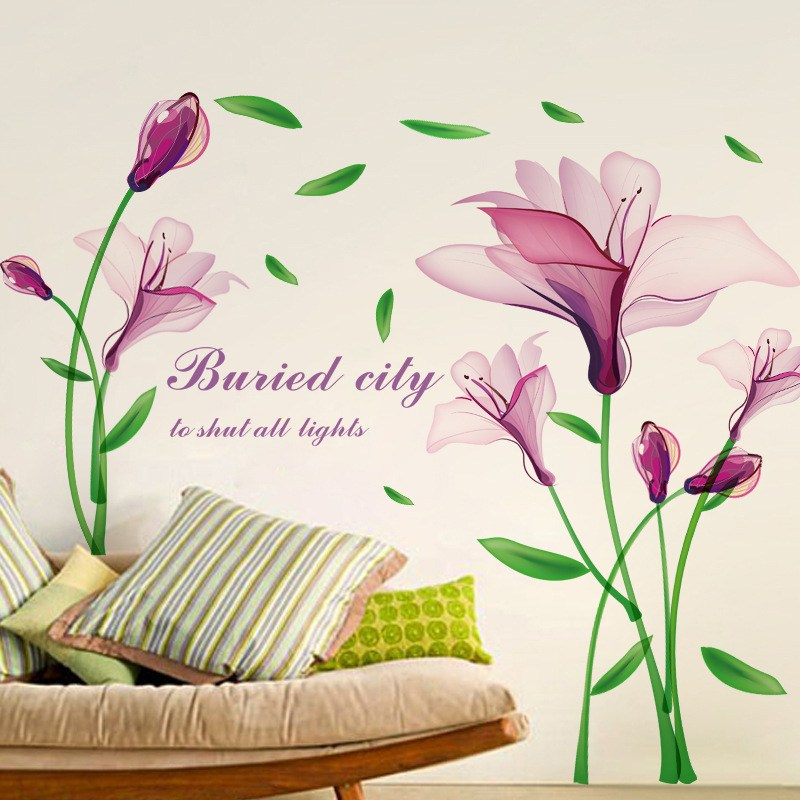 Purple Flower Wall Decals