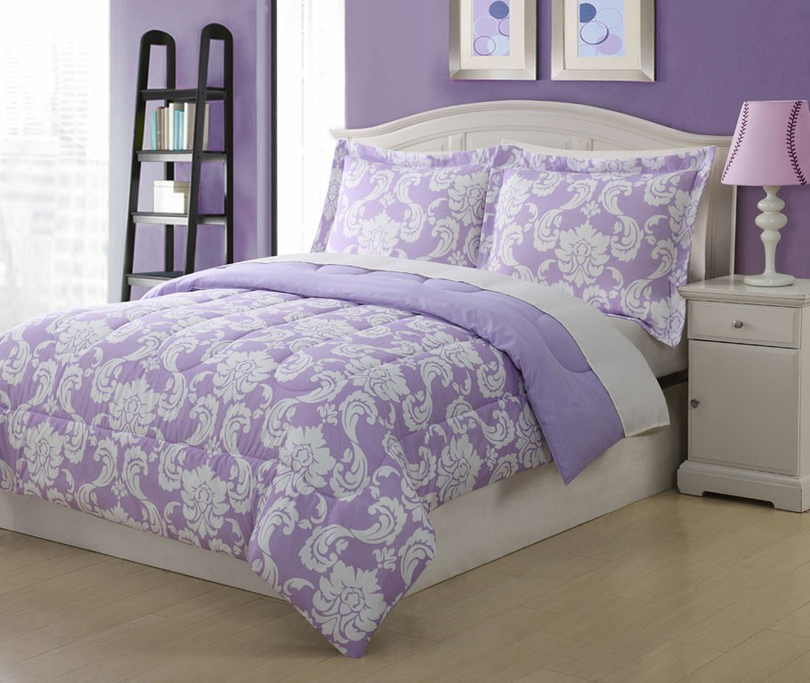 Purple Full Comforter Set