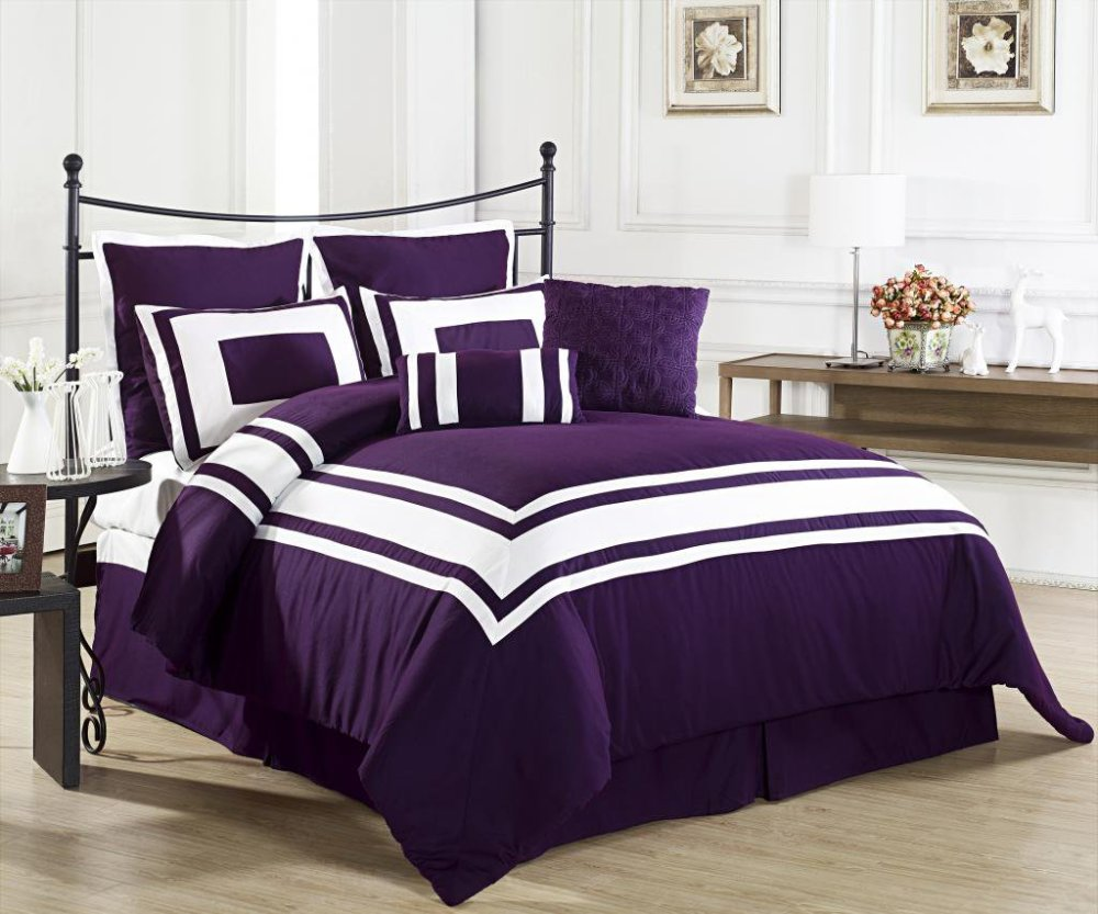 Purple King Size Comforter Set