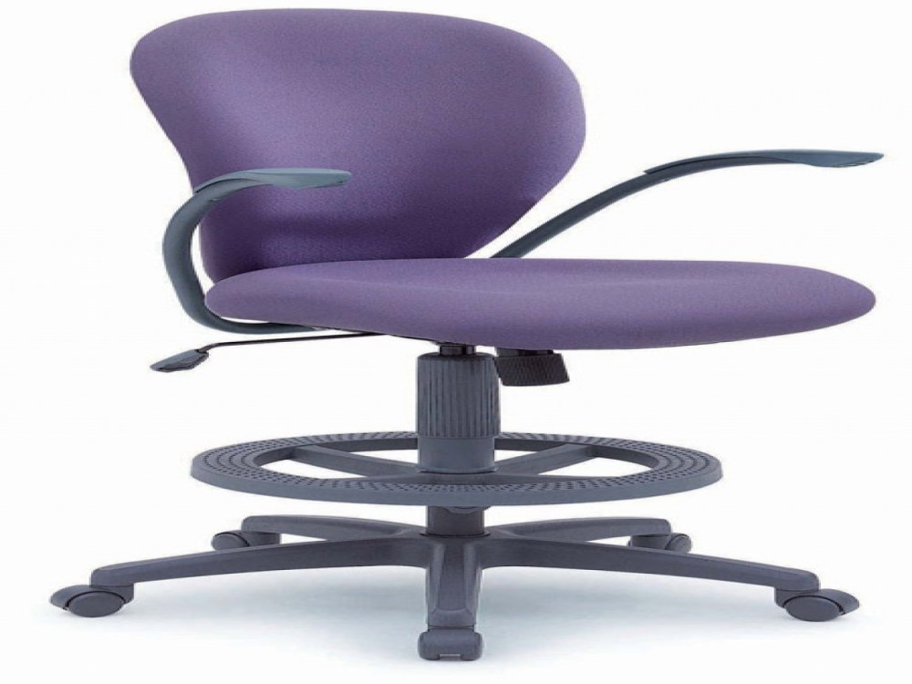 Purple Leather Office Chair