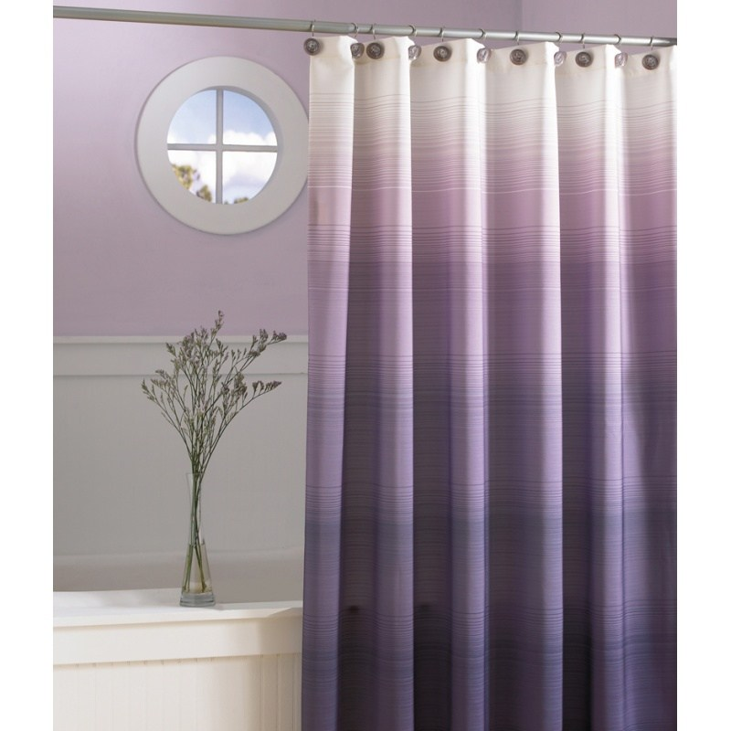 Purple Shower Curtain With Valance