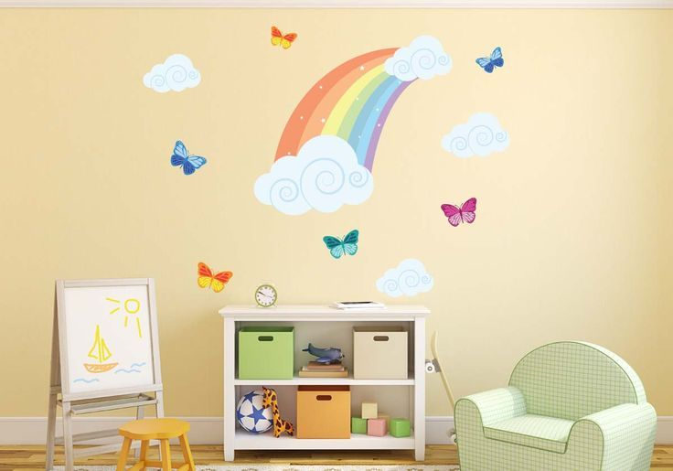 Rainbow Butterfly Wall Decals