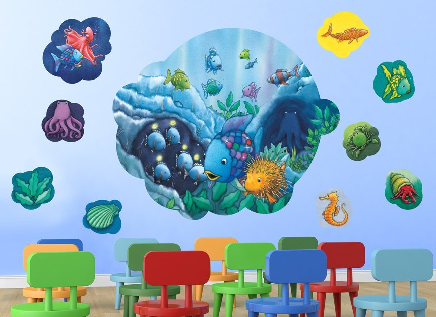 Rainbow Fish Wall Decals