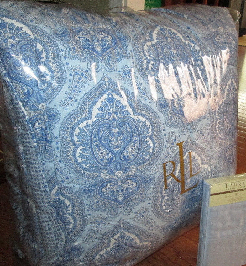 Ralph Lauren Blue And White Comforter Set