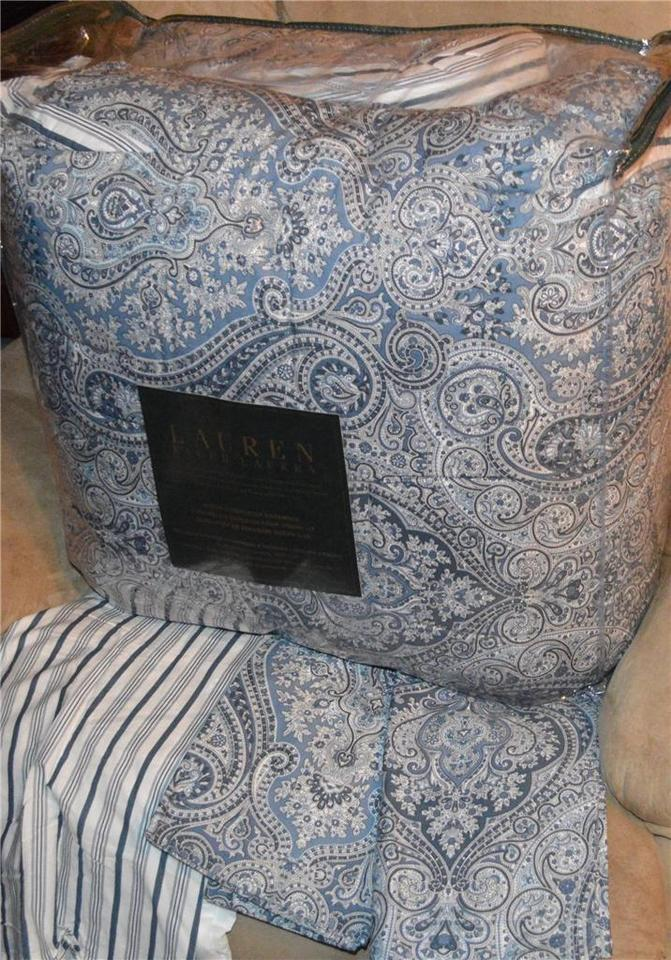Ralph Lauren Comforter Set Blue