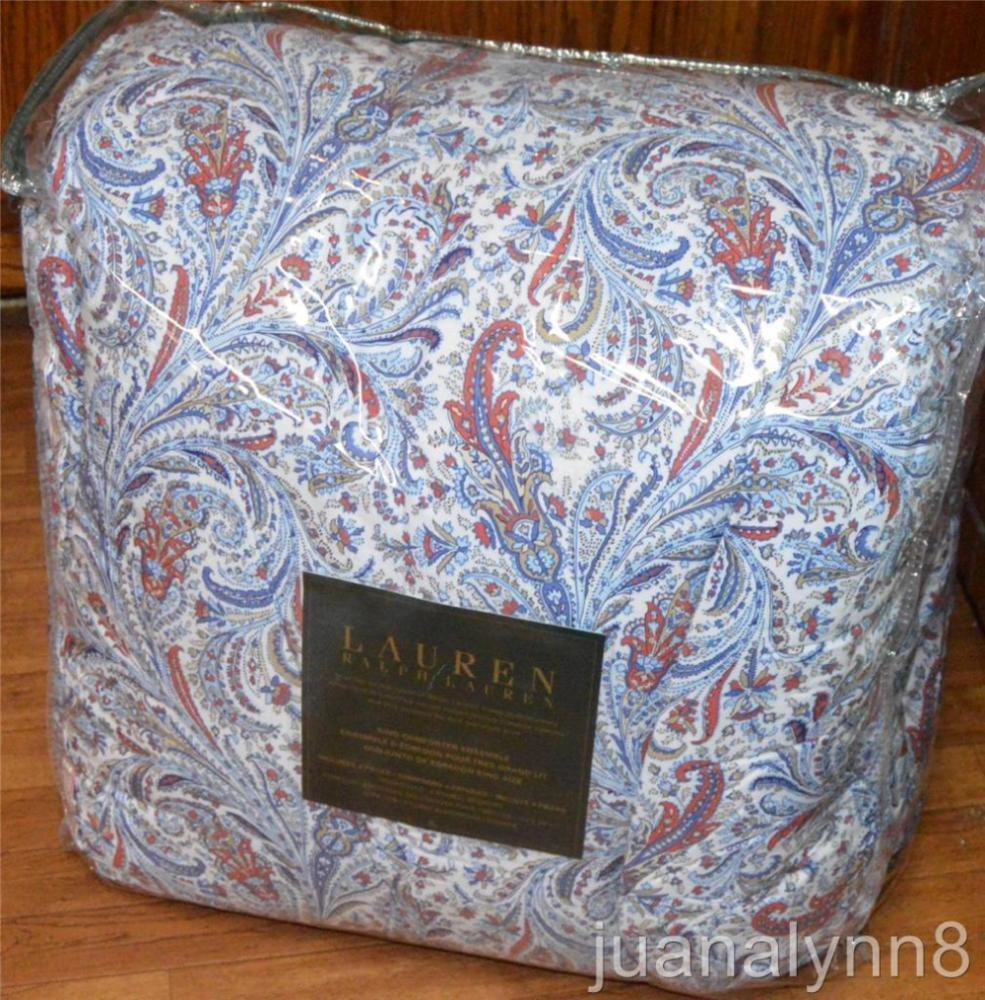 Ralph Lauren Red Paisley Comforter Set