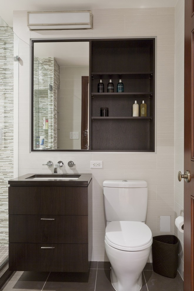 Recessed Bathroom Cabinet With Mirror