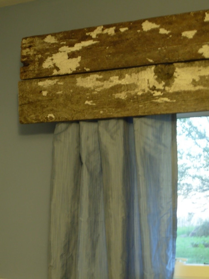 Reclaimed Wood Window Valance