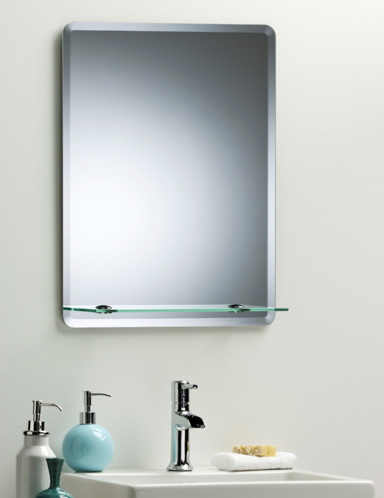 Rectangular Bathroom Mirror With Shelf