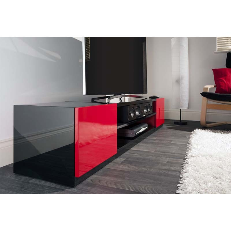 Red And Black Tv Stand
