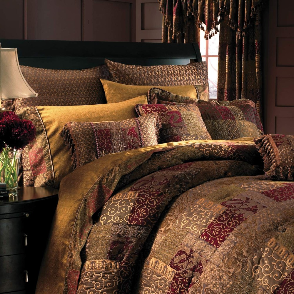 Red And Gold Comforter Set King