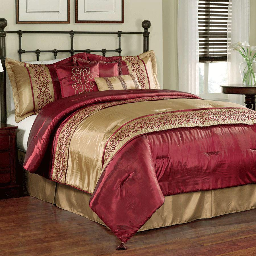 Red And Gold Comforter Set