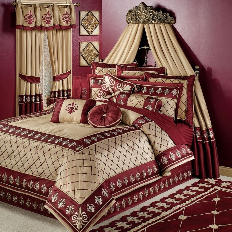 Red And Gold Comforter Sets