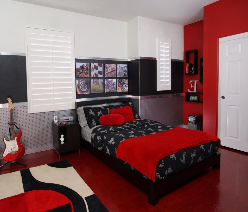 Red And Grey Comforter Sets