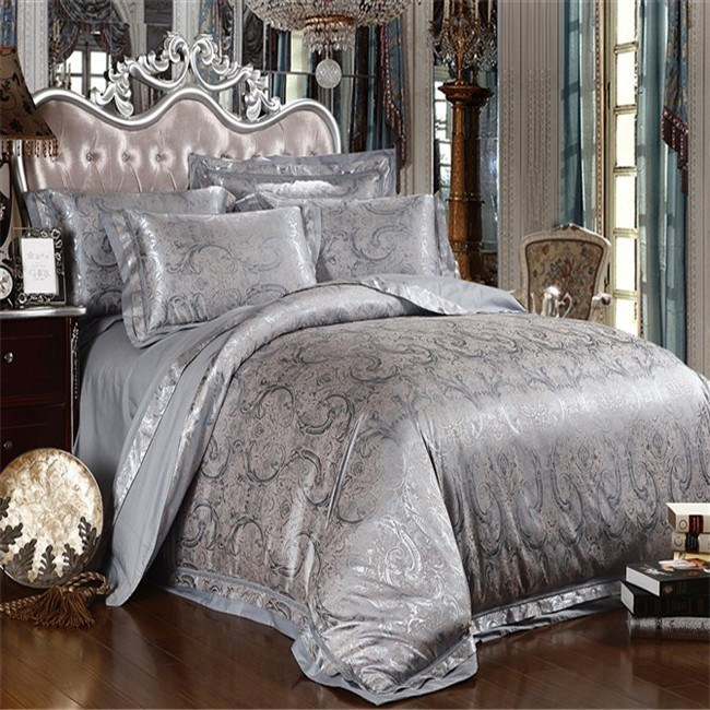 Red And Silver Comforter Set