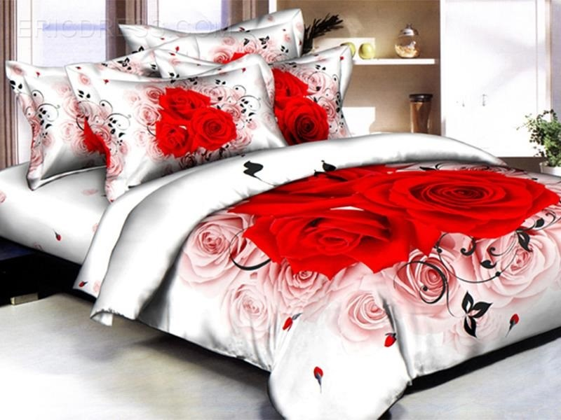 Red And White Comforter Set Queen
