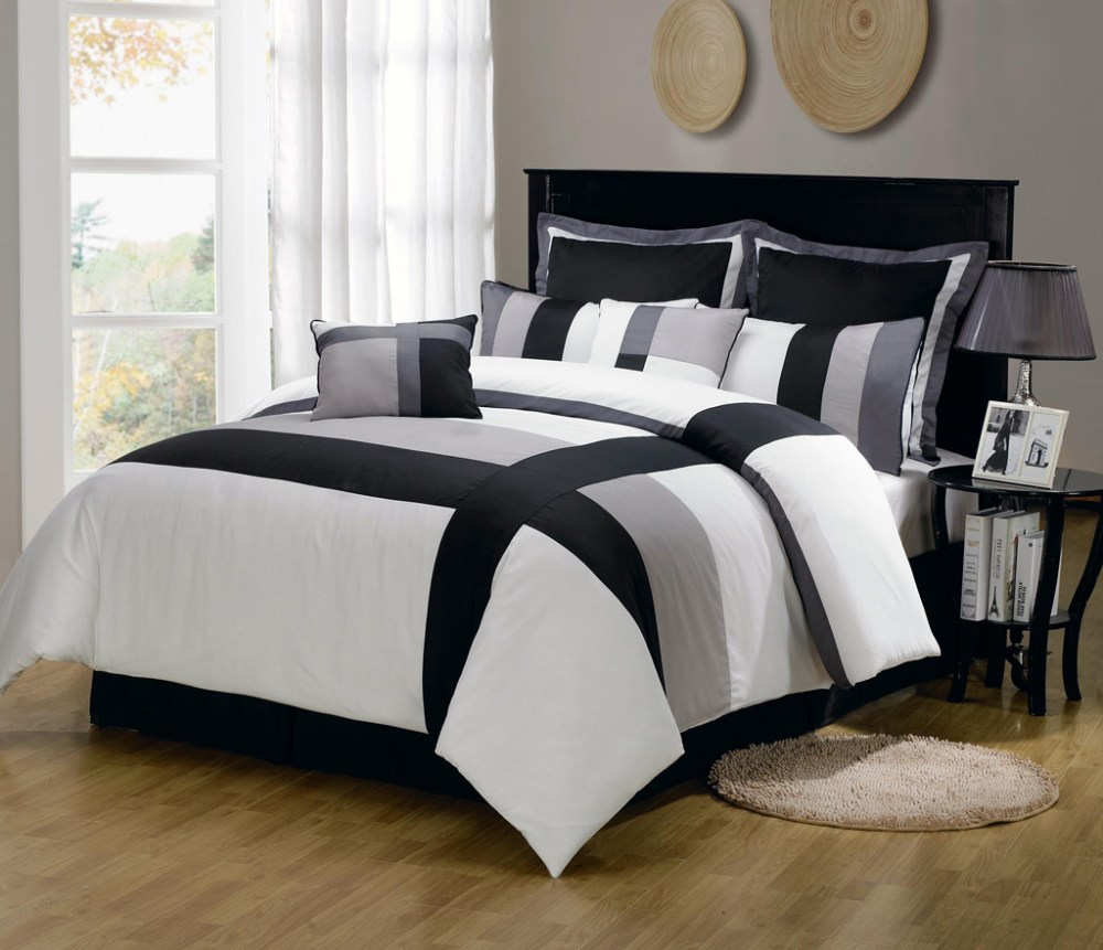 Red Black And Gray Comforter Sets